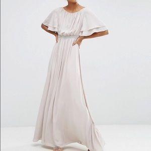 NWT ASOS flutter sleeve maxi dress